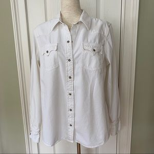 Lucky Brand Western Style Pearl Snap Shirt